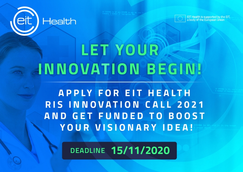 EIT Health supports innovative healthcare start-ups from Europe with over 1 Million EUR in 2021 EIT Health RIS Innovation Call