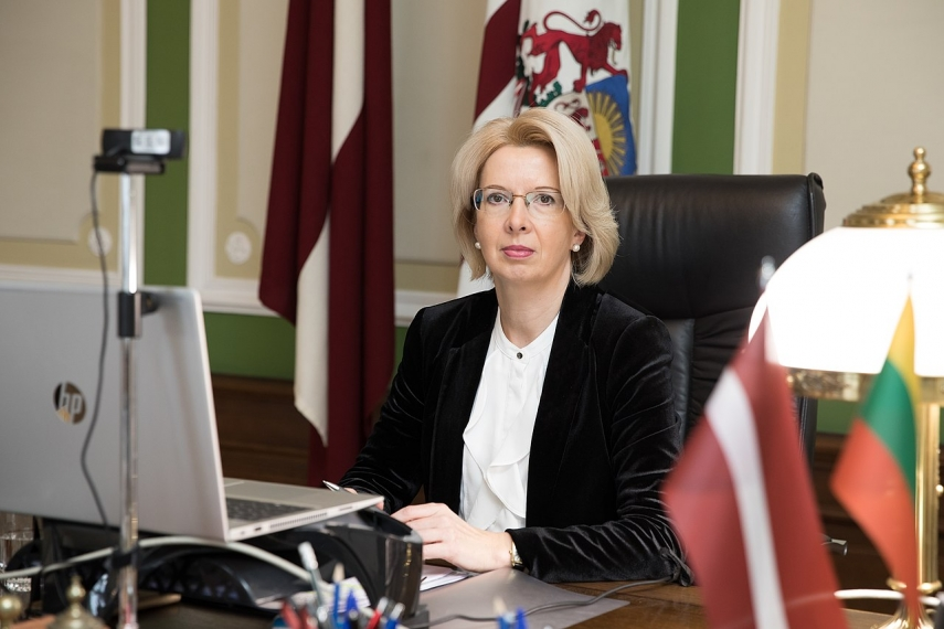 Murniece in conversation with Lithuanian speaker urges work on Baltic infrastructure projects