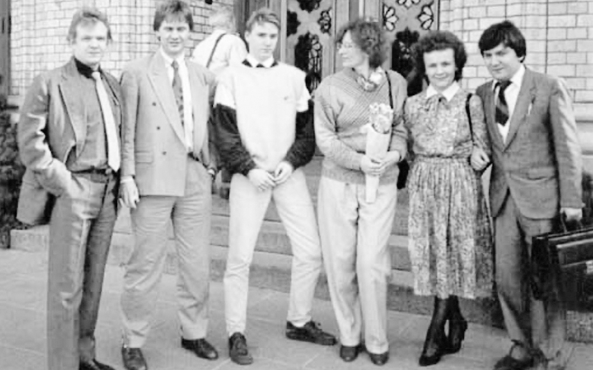 Laima Andrikiene along with her fellow signatories on their first trip to Scandinavia as the lawmakers of independent Lithuania in 1990.