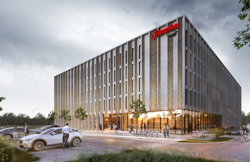 With the Support of Bigbank Latvia, Construction of a Hotel Worth 14.9 Million Euros is Underway near Riga International Airport