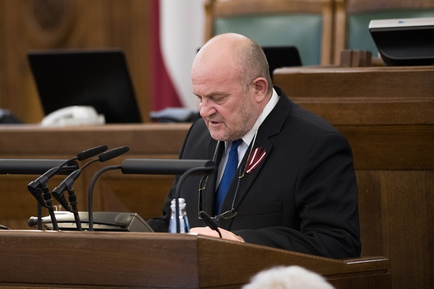 Saeima votes to strip MP Adamsons of immunity; suspected of spying for Russia