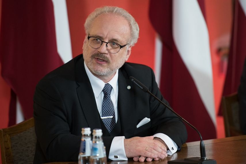 President notes necessity to earmark budget funds to strengthen Latvia's borders