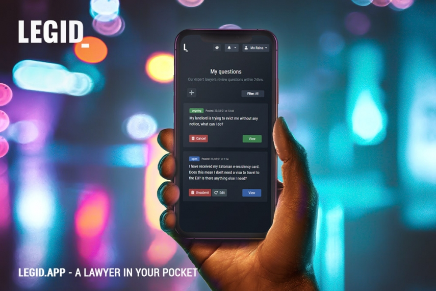 LEGID App Is the First Marketplace for Legal Services Active in All Three Baltic States