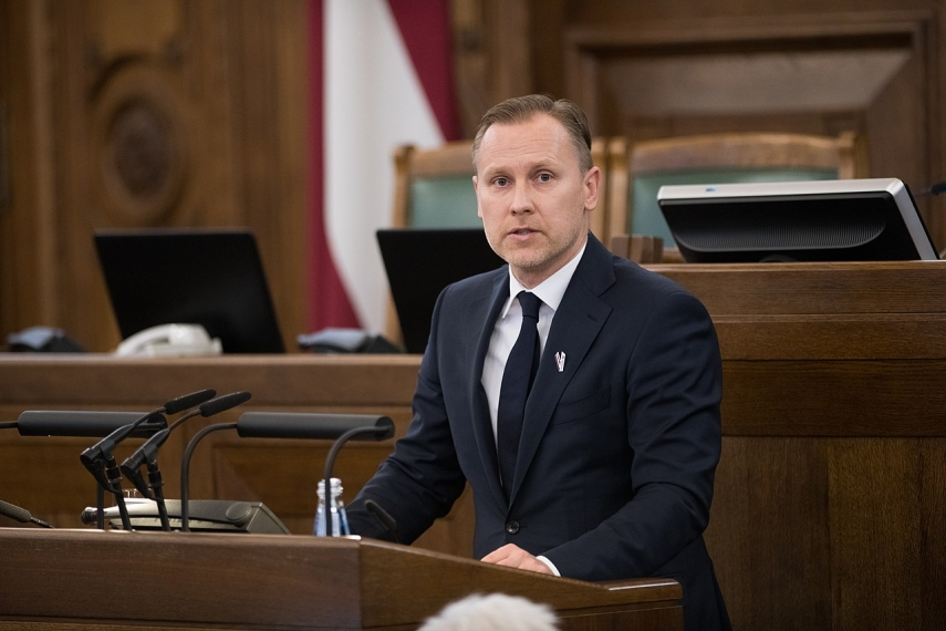 Police start administrative offense procedure against MP Gobzems for unauthorized protest against